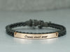 Couple Bracelets- Omnia vincit amor, His and Her Bracelet, Inspirational Latin Jewelry, Leather Cuff