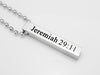 Colossians 3:13 Custom Scripture Necklace, Bible Verse Necklace