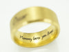 Pet Memorial Ring, Gold Ring, Inside Engraved Ring Band, Pet Name Ring