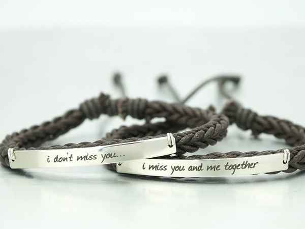 His and Her Bracelets, Boyfriend Girlfriend Jewelry, Matching Couple Bracelets