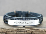 Perfectly Imperfect Bracelet, Custom Quote Engraved Bracelet
