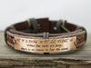 Coordinate Bracelet, Inspirational Quote, Latitude Longitude, Motivational Jewelry, Leather Cuff