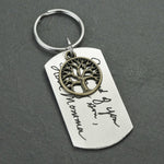 Handwriting Keychain, Memorial Signature Keychain, Life Tree Keychain
