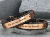 You Are My Person Bracelets- set of two, Couple Leather Cuff, Best Friend Bracelet, Grey's Anatomy