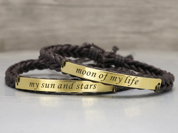 b399705e1 ... Game of Thrones Bracelets, Moon of my life- my sun and stars, Couple ...