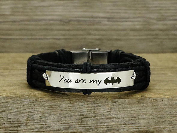 You are My Batman Bracelet, Superhero Bracelet
