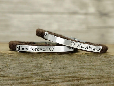His and Her Forever Always Bracelets