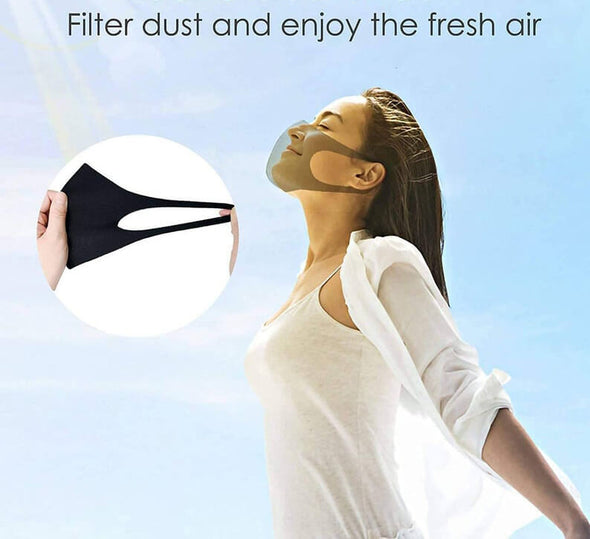 Mesh Face Mask Washable 10-PACK, Breathable in Summer