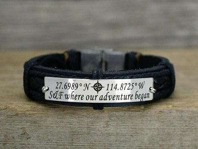 Custom Coordinates Bracelet, where our Adventure began