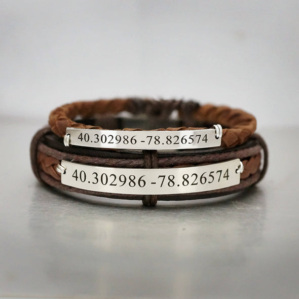 coordinate couple bracelets leather