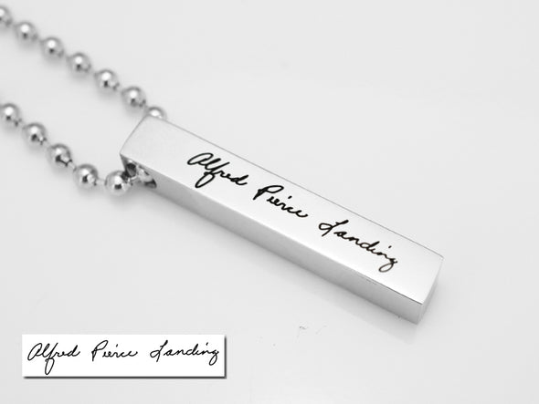 Custom Handwriting Necklace, Signature Necklace, Memorial Jewelry