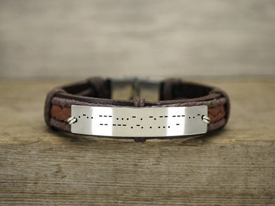 Silver Morse Code Best Friend bracelets for Him