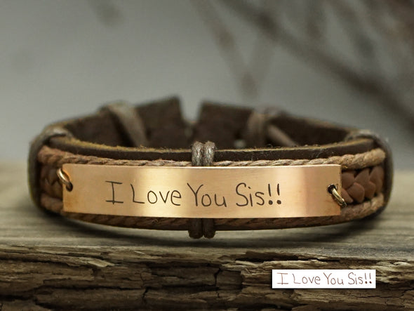 Sister Bracelet, Actual Handwriting Bracelet, Memorial Bracelet
