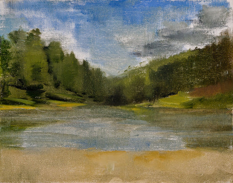 Halfway Dam, Color Study - Landscape by David McSween - Oil Painting