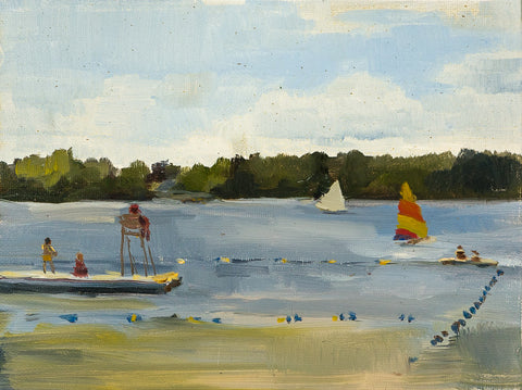 Lake Afternoon - Landscape by David McSween - Oil Painting