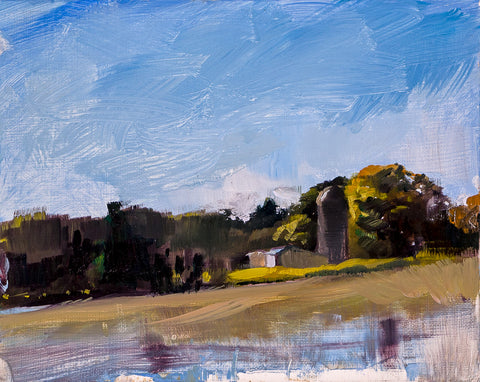 Piedmont Silo II - Landscape by David McSween - Oil Painting