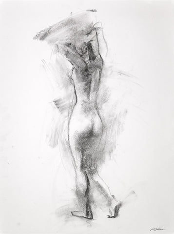 Figura n.191 - Figure Drawing by David McSween - Charcoal on Paper