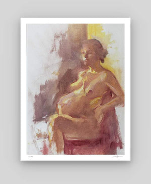 Nude Study in Yellow and Violet