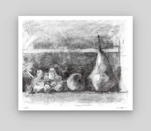 Peach And Pear, Composition Study