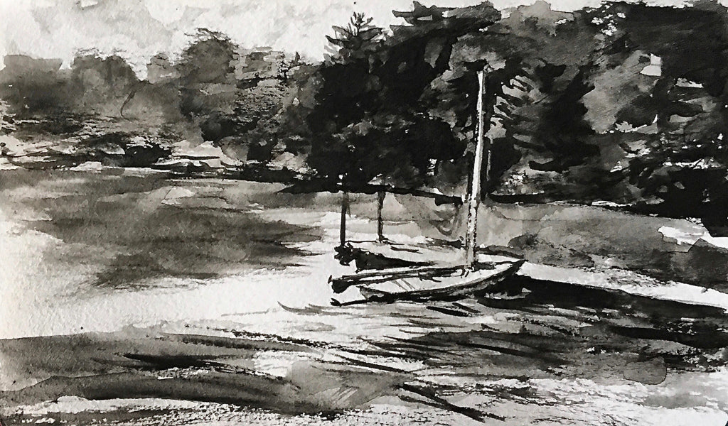 Eagles Mere, Ink Wash III
