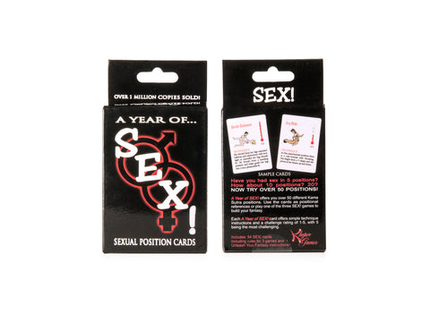 A Year of Sex Positions Adult Card Game