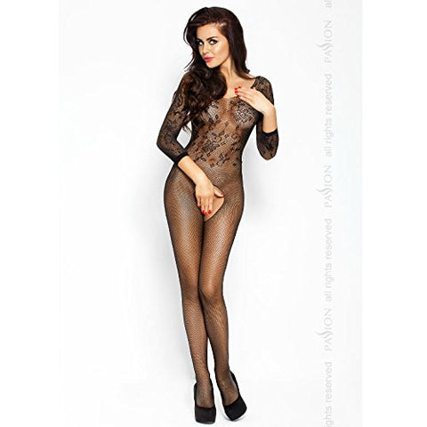 Passion Lingerie 007 Long Sleeve Crotchless Bodystocking