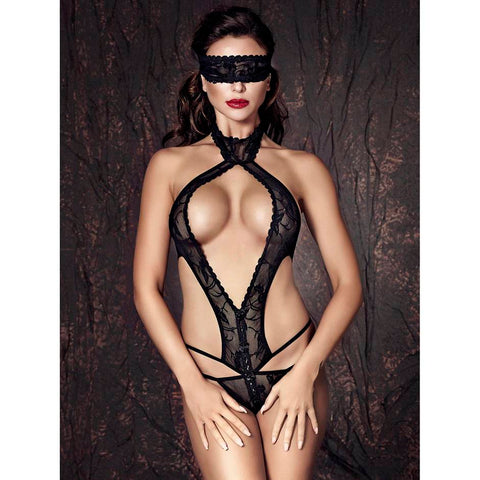 Anais Alexandra Lace G-String Body With Blindfold