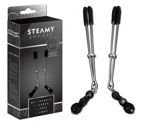 Steamy Shades Adjustable Tweezer Nipple Clamps