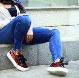 Victim Syra Bordeaux Sneakers