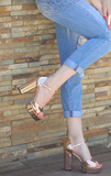 BDC Inspired Catrina heels in Rose Gold