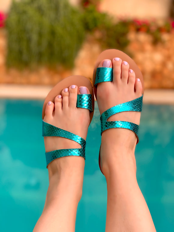 Atya Lover in Turquoise Snake