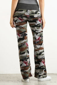 Comfy Pants Plus Camo Floral