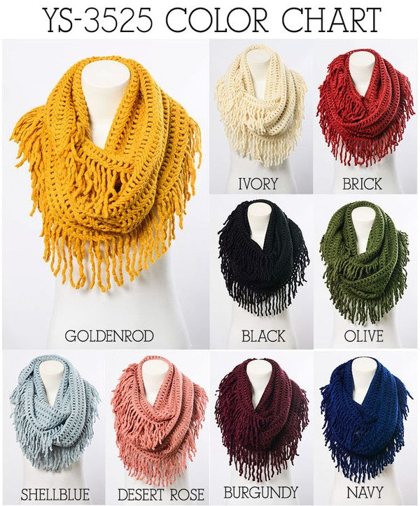 Infinity Scarf Chunky Chenille More Colors Available The