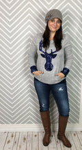 Sweatshirt (Blue Sequined Deer )