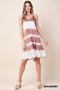 Dress (Mauve Tye Dye Spaghetti Strap)
