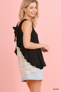 Sleeveless Top (black lace)