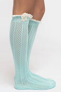 Boot Socks, lace trim (More colors available)