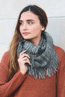 Infinity Scarf, Marled knit frayed (More colors available)