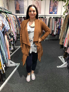 Sweater Cardigan (Apricot)