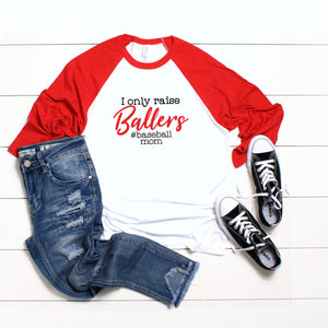 Graphic Baseball Tee (Baseball Mom)