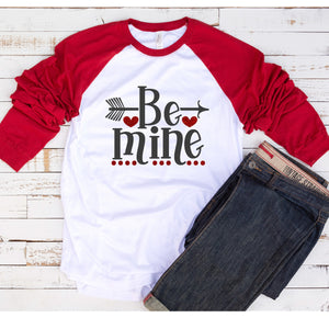 Be Mine Baseball Tee