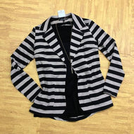 Black Stripe Blazer