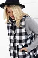 Vest, Plaid Padded (multiple colors available)