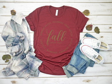 Graphic Tee (Fall Leaves)