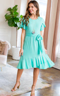 Dress (wrap style) Deep Mint