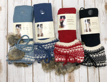 Boot Socks, Nordic Fur Pom (more colors available)