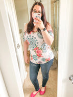 Tunic (Cold Shoulder Blush Paisley)