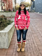 Sweatshirt (Red Reindeer)