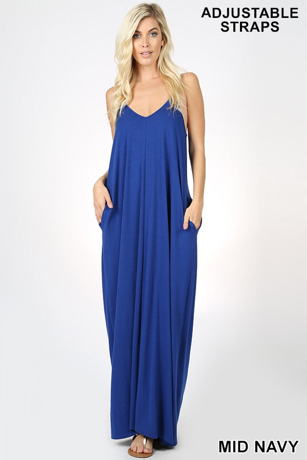 Maxi Dress Spaghetti Strap (More Colors available)