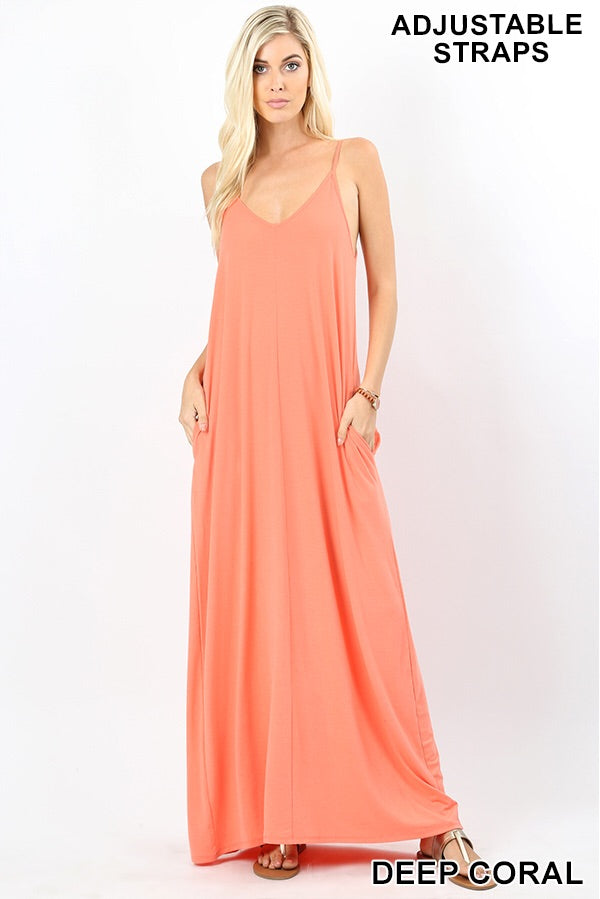 Maxi dress Spaghetti Strap Plus (more colors available)